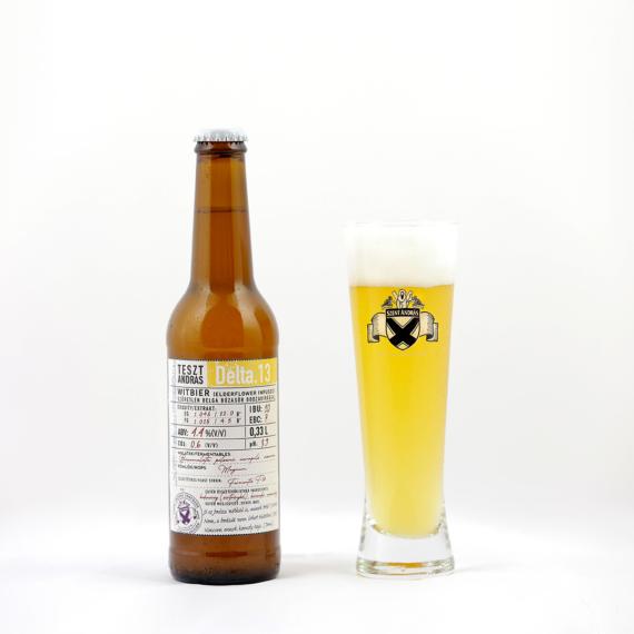 Delta. 13 (witbier / szűretlen belga búza bodzavirággal) 4.4%
